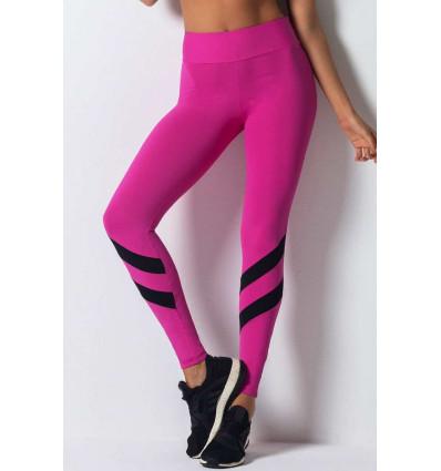 Športové legíny Glam Pink Black Belt