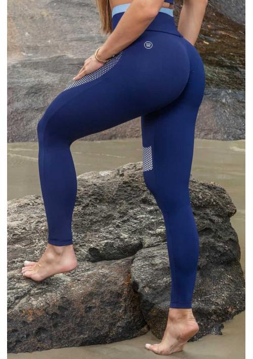 Športové legíny Vib Navy Blue with Fused