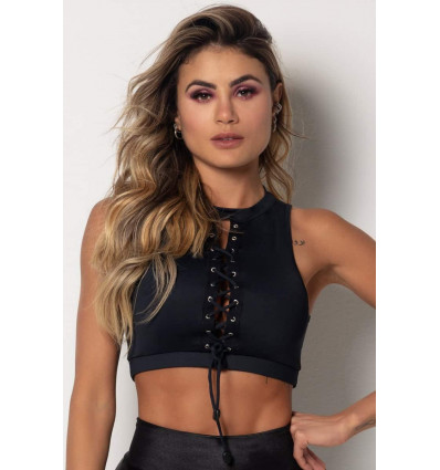 Fitness top Tfin Black with Lace HIPKINI