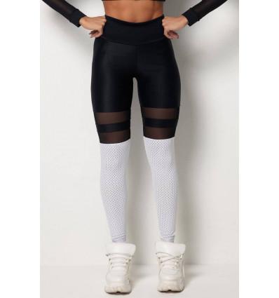 Legíny s vysokým pásom Tfin Cirre Black Cutouts HIPKINI