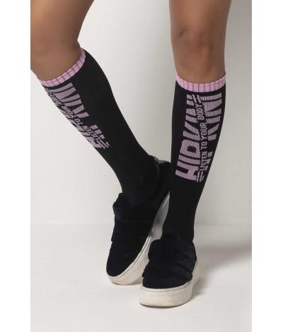 Športové ponožky Tfin Black and Pink HIPKINI