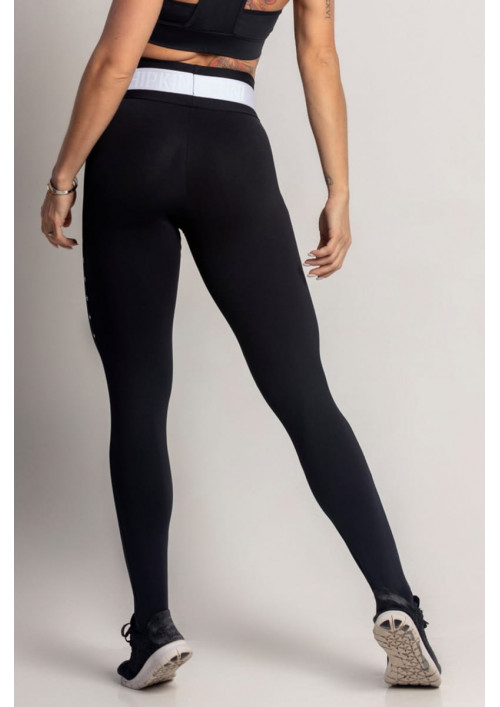 Čierne legíny Dream Fitness Black with Star Silk