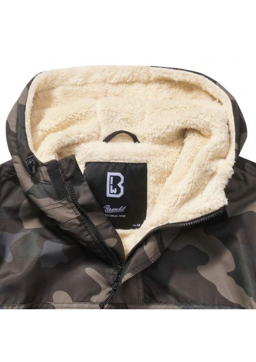 Brandit Windbreaker Sherpa bunda darkcamo
