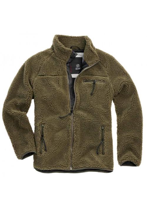 Brandit Teddyfleece flisová bunda olivová