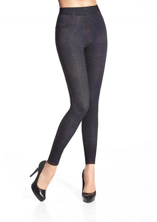 Riflová dámske legíny BLANKA indygo-jeans