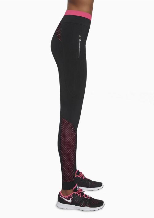 Dámske športové legíny INSPIRE čierno ružové