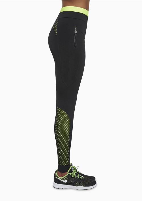 Dámske športové legíny INSPIRE čierno zelené