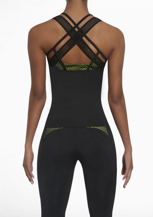 Dámsky športový top Inspire 50 čierno-zelený