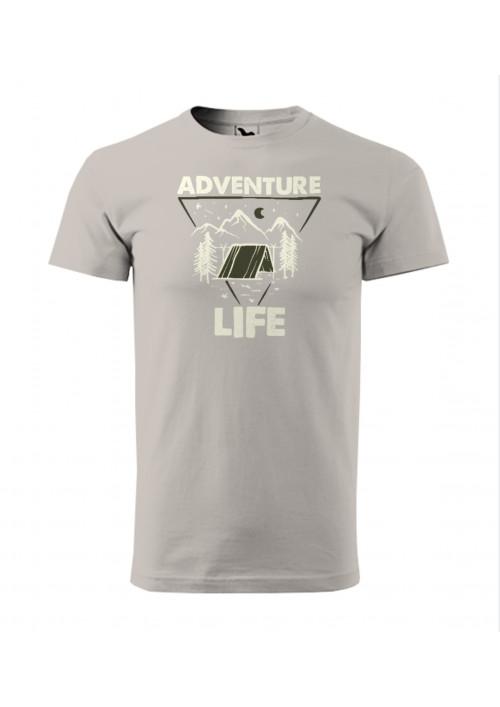 HIPKINS Adventure Life tričko s krátkym rukávom šedé v.1