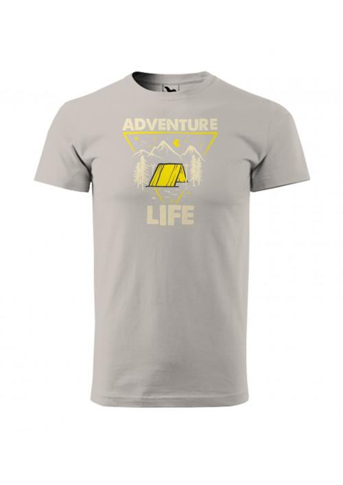 HIPKINS Adventure Life tričko s krátkym rukávom šedé v.2