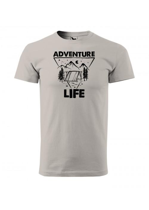 HIPKINS Adventure Life tričko s krátkym rukávom šedé v.3