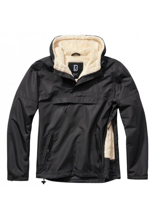Brandit bunda Windbreaker Sherpa čierna