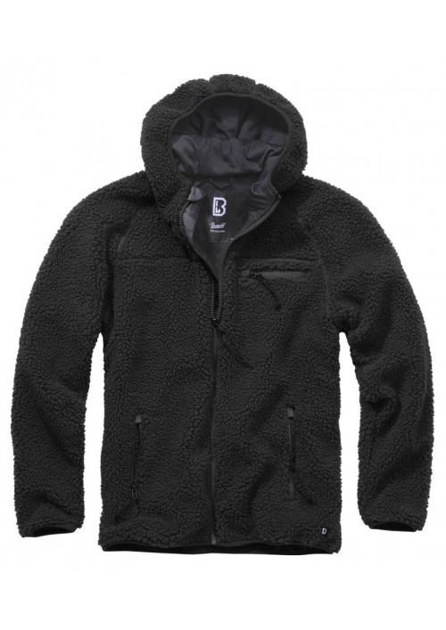 Brandit Teddyfleece Worker flisová bunda čierna