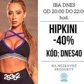 Iba dnes od 20:00 do 22:00 hod. Na všetky nezľavnene modely Hipkini. ZĽAVA 40%! Doprava ZADARMO od 45 €. . . @hipkins.sk #fitness #banskabystrica #praha #brno #fitnessoblecenie #fitnessgirl #czechgirl #slovakgirl #bratislavagirl  #fitnessleggings #czechfitness #milujemfitnessczsk #fitnessczech #gym